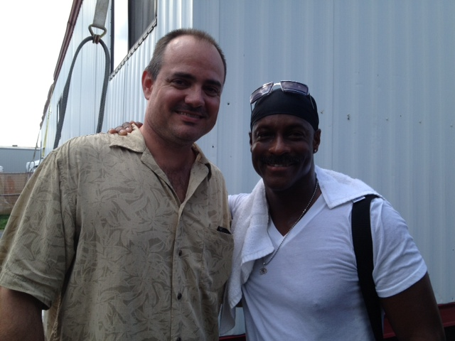Backstage at Jazz Fest with Sonny Emory