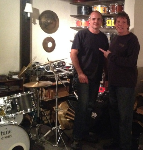 At Fortune Drums with Dale Flanigan